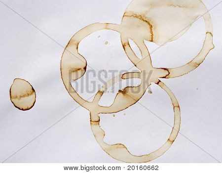 Background of coffee rings