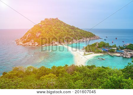Koh Nangyuan Surat Thani Thailand Nang Yuan Island Koh Tao Thailand Koh Nang Yuan is made up of three little teardrops of land connected by a massive sandbar poster