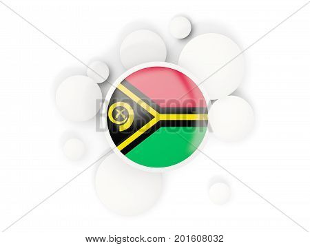 Round Flag Of Vanuatu With Circles Pattern