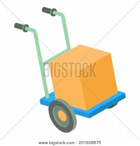 Post cart icon. Isometric illustration of post cart vector icon for web