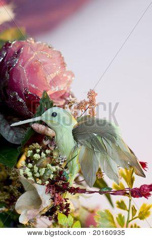 tacky hummingbird and flowers