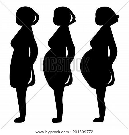 Pregnancy stage icon. Simple illustration of pregnancy stage vector icon for web
