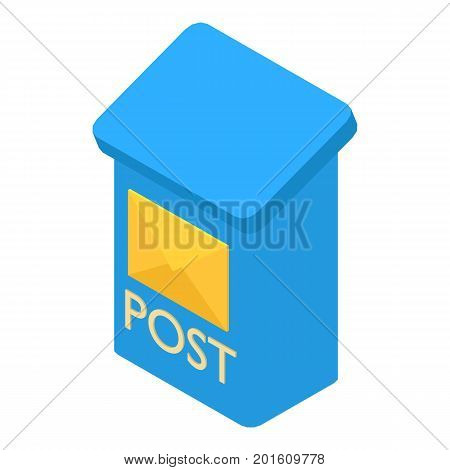 Mailbox icon. Isometric illustration of mailbox vector icon for web