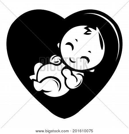 Baby icon. Simple illustration of baby vector icon for web