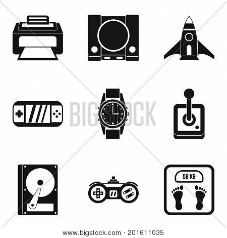 Adjustment icons set. Simple set of 9 adjustment vector icons for web isolated on white background