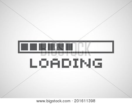 Abstract composition. Loading bar element icon. Creative web design download timer. Users completion indicator. White background black cluster lines. Uploading speed symbol. Internet page progress