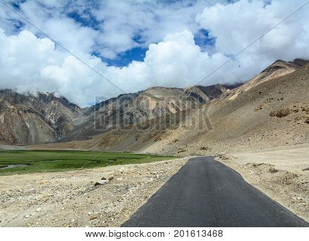 Mountain Road In Ladakh, Northern India