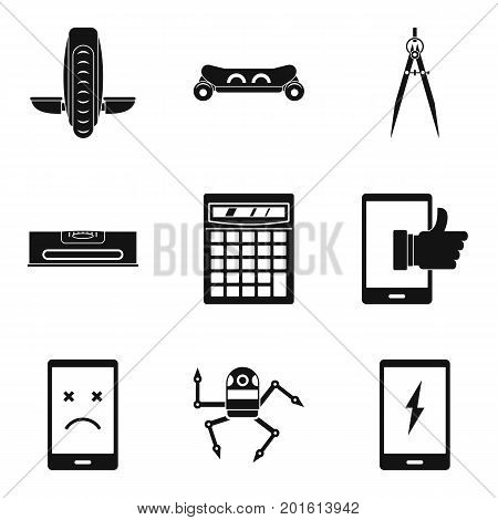 Tuning icons set. Simple set of 9 tuning vector icons for web isolated on white background