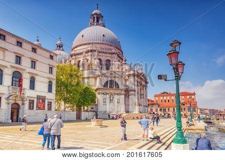 Venice, Italy - May 12, 2017 :temple San Giorgio Maggiore (chiesa Di San Giorgio Maggiore), Located