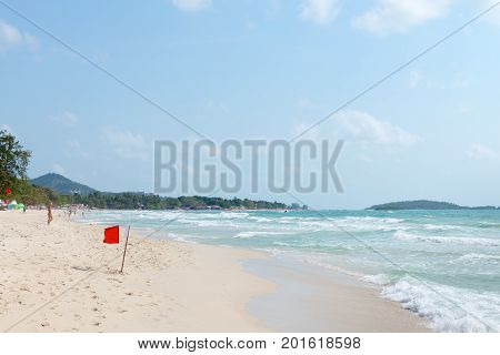 Chaweng Sandy Beach On Samui Island In Thailand