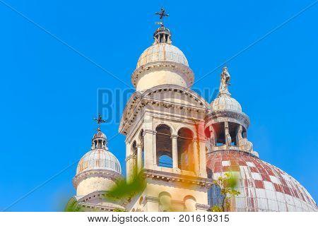 View Of The Most Beautiful City In The Word -  Venice, Facade Of Santa Maria Della Salute (basilica