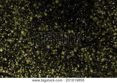 Nice golden champagne fizz with a ddark background