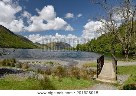 Shore of Crummockwater in the English Lake District