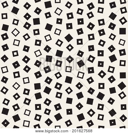 Seamless primitive jumble minimalism patterns. Randomly scattered geometric shapes. Abstract retro background design