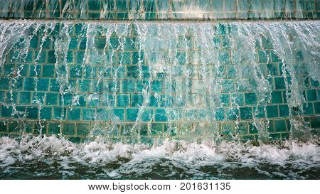 Abstract image of water from fountain with high shutter speed.