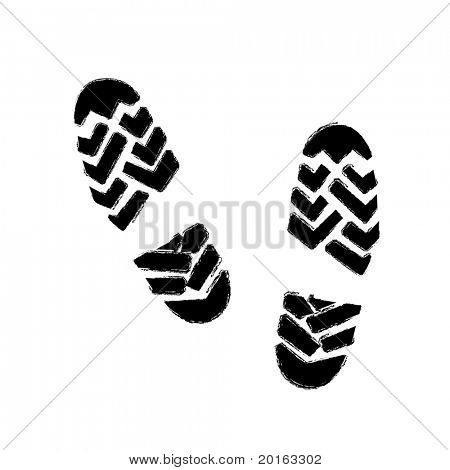 boot prints vector