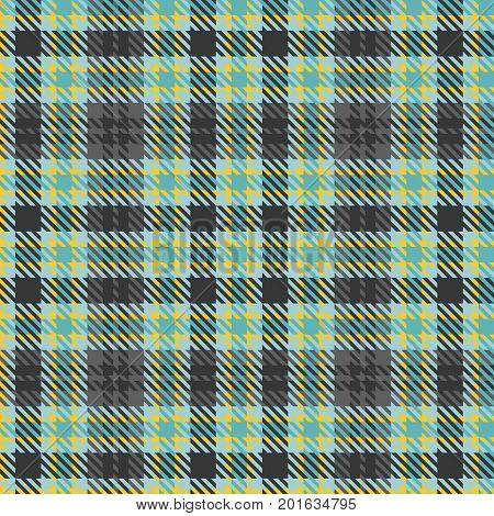 Green and black tartan texture fabric, seamless pattern