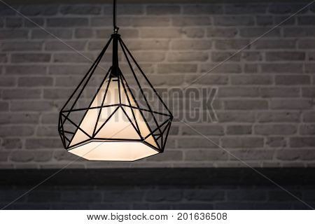 Edison's Light Bulb And Lamp In Modern Style. Warm Tone Light Bulb Lamp. Lamps In Coffee Shop. Ediso