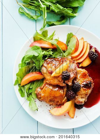 Baked Chicken With Fruits