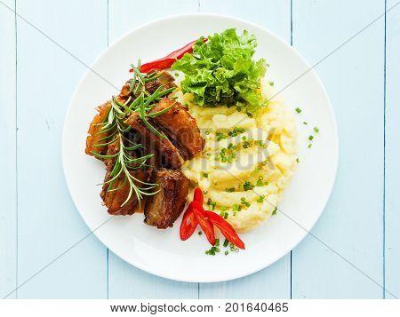 Pork Ribs With Veggies