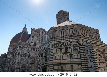 Cattedrale di Santa Maria del Fiore (Cathedral of Saint Mary of the Flower) is the main church of Florence,Tuscany, Italy.