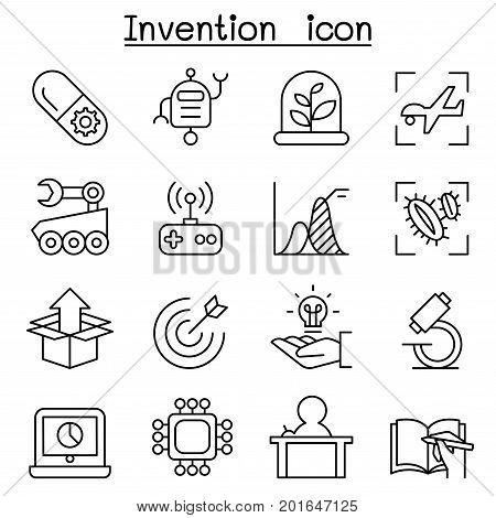 Innovation & Creative idea concept icon set in thin line style