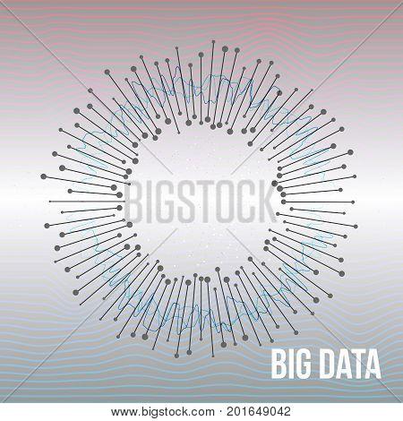 Big Data Visualization. Futuristic Science Finance Infographic Design. Complex Visual Data Background. Abstract Graph. Vector.