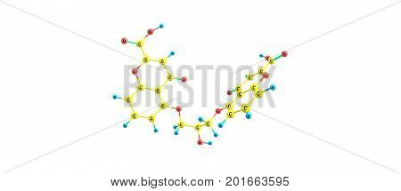 Cromoglicic Acid Molecular Structure Isolated On White