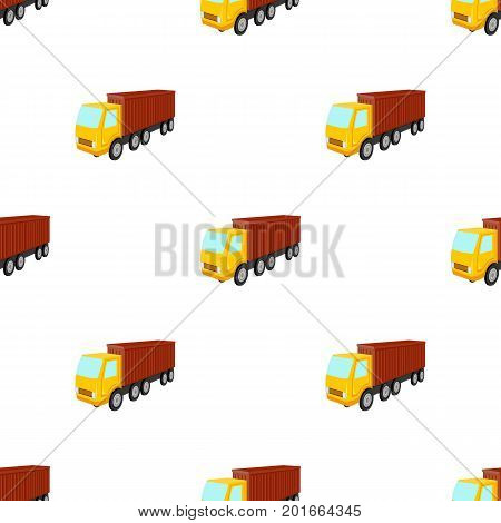 A large truck for the transport of goods. Transportation and delivery single icon in cartoon style isometric vector symbol stock illustration .