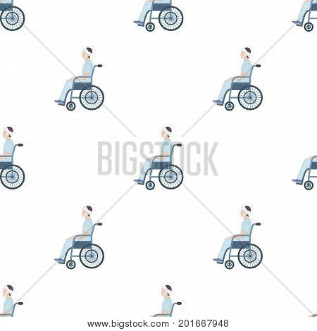 A man with a trauma in a wheelchair. Medicine single icon in cartoon style vector symbol stock illustration .