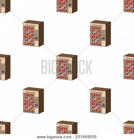 A terminal with different kinds of chocolate. Terminals single icon in cartoon style isometric vector symbol stock illustration .