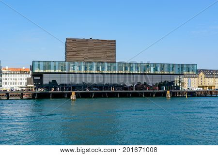 COPENHAGEN DENMARK - June 23 2016: Royal Danish Playhouse building - a theater building for the Royal Danish Theatre.