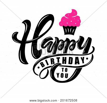 happy birthday text vector photo free trial bigstock