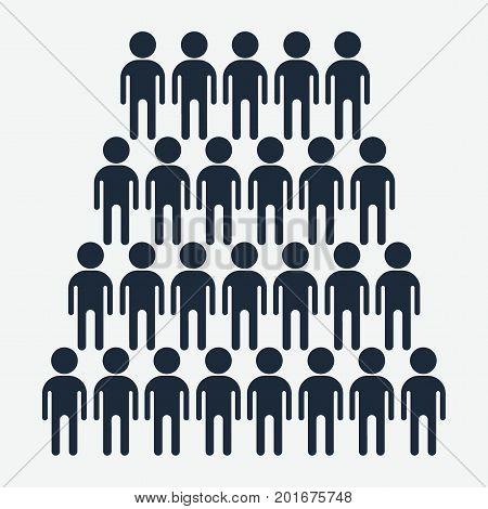 Crowd Black Icon