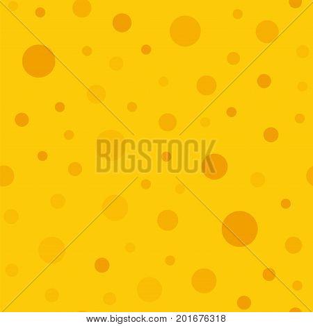 Orange Polka Dots Seamless Pattern On Yellow Background. Neat Classic Orange Polka Dots Textile Patt