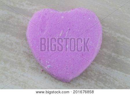 Blank Purple Candy Heart Centered On White Background