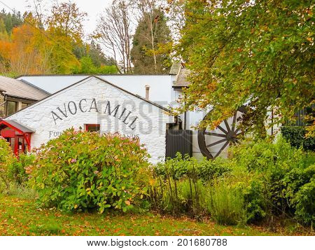 AVOCA, IRELAND - NOVEMBER 07, 2013: Avoca Handweavers, weaving mill in Ireland. Oldest extant manufacturer in Ireland and one of the world's oldest. Wicklow Mountains National Park, Ireland