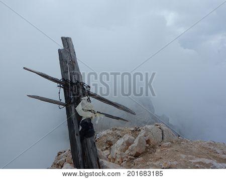 Mountaineering On Tofana Ridge In Dolomites