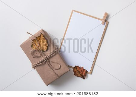 Paper Card With Craft Gift Box