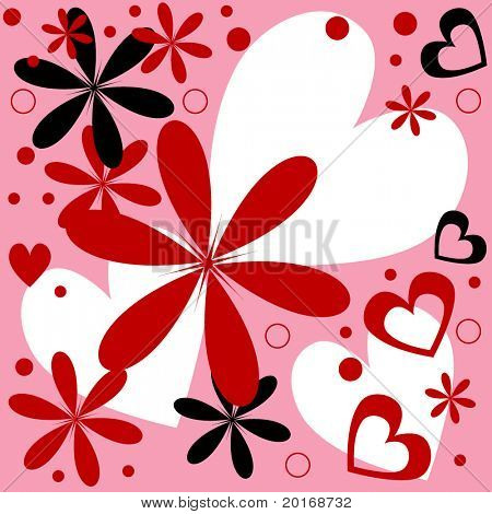 flower and heart illustration