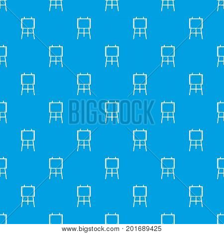 Wooden easel pattern repeat seamless in blue color for any design. Vector geometric illustration