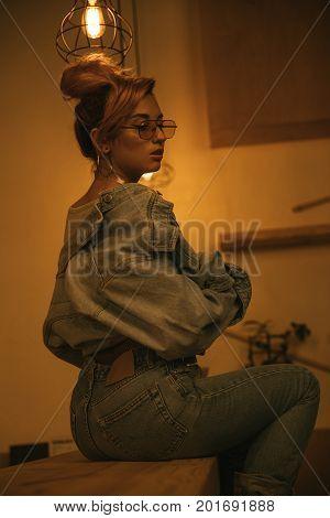 Fashionable Seductive Girl