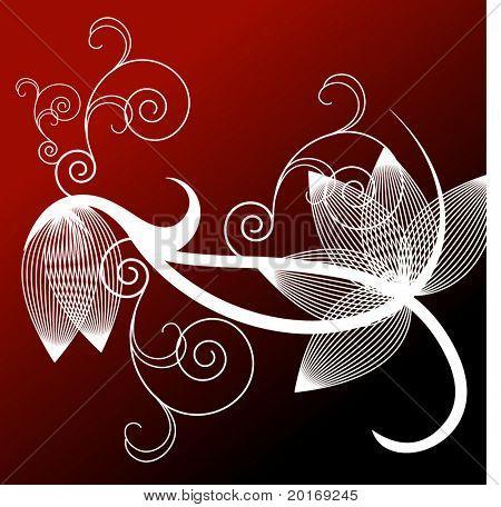 filigree background vector