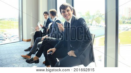 Business people waiting for the job interview