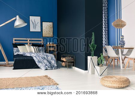 Functional Soothing Navy Apartment