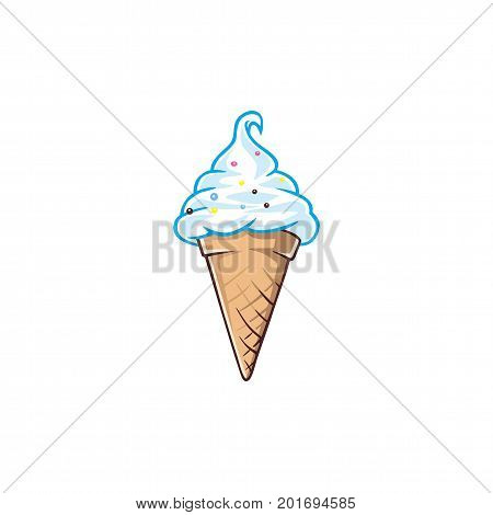 Ice Cream. Italian Gelato.  Logo Vector Design Template