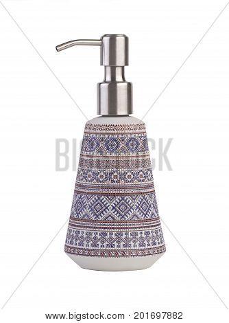 Ceramic bath dispenser isolated on white background