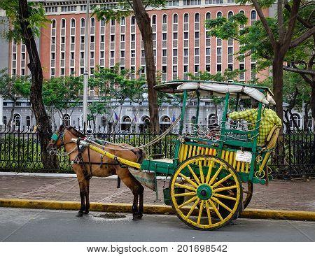 Horse Cart In Intramuros, Manila, Philippines