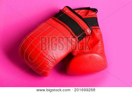 Couple Of Gloves For Professional Boxing Placed Near Each Other