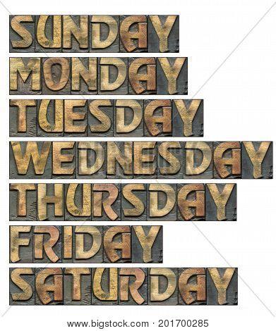Weekdays Set Wooden